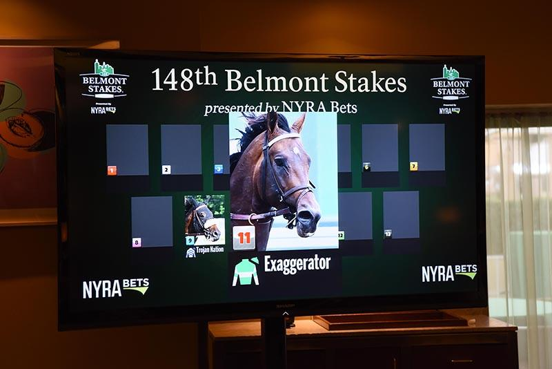 Exaggerator draws post 11 as favorite for Saturday's Belmont S. (G1) title=
