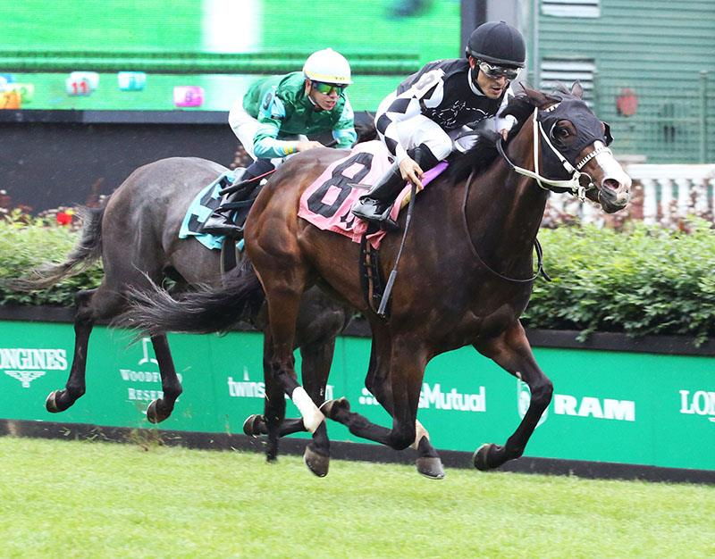 Fed Biz filly uncorks big rally to take Churchill's Mamzelle S. title=
