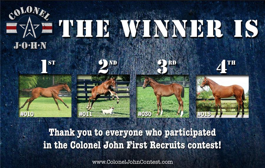 Colonel John First Recruits contest winner announced title=