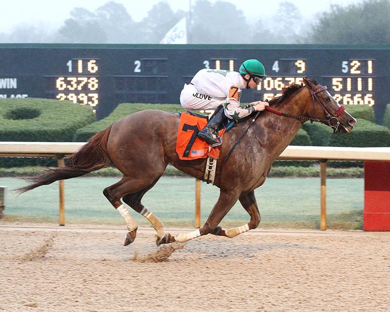 Haveyougoneaway wins second straight Oaklawn stakes title=