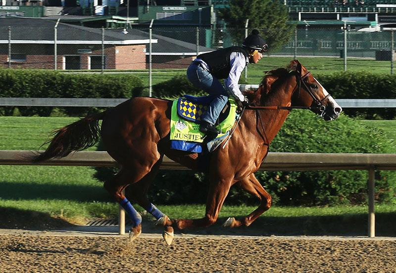 Justify has final pre-Belmont S. (G1) workout title=