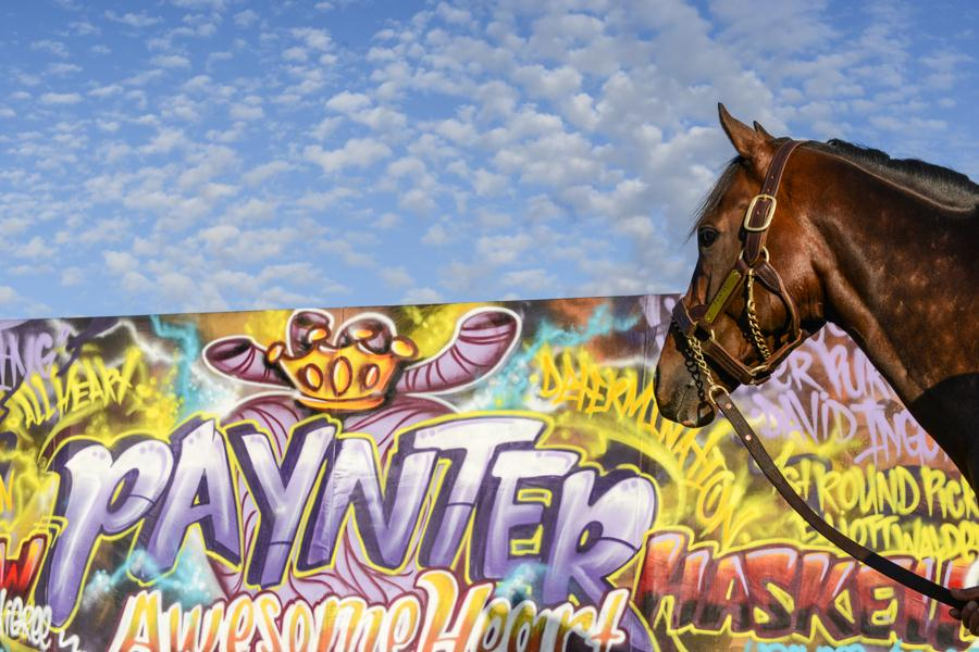 Graffiti mural at center of Paynter promotion