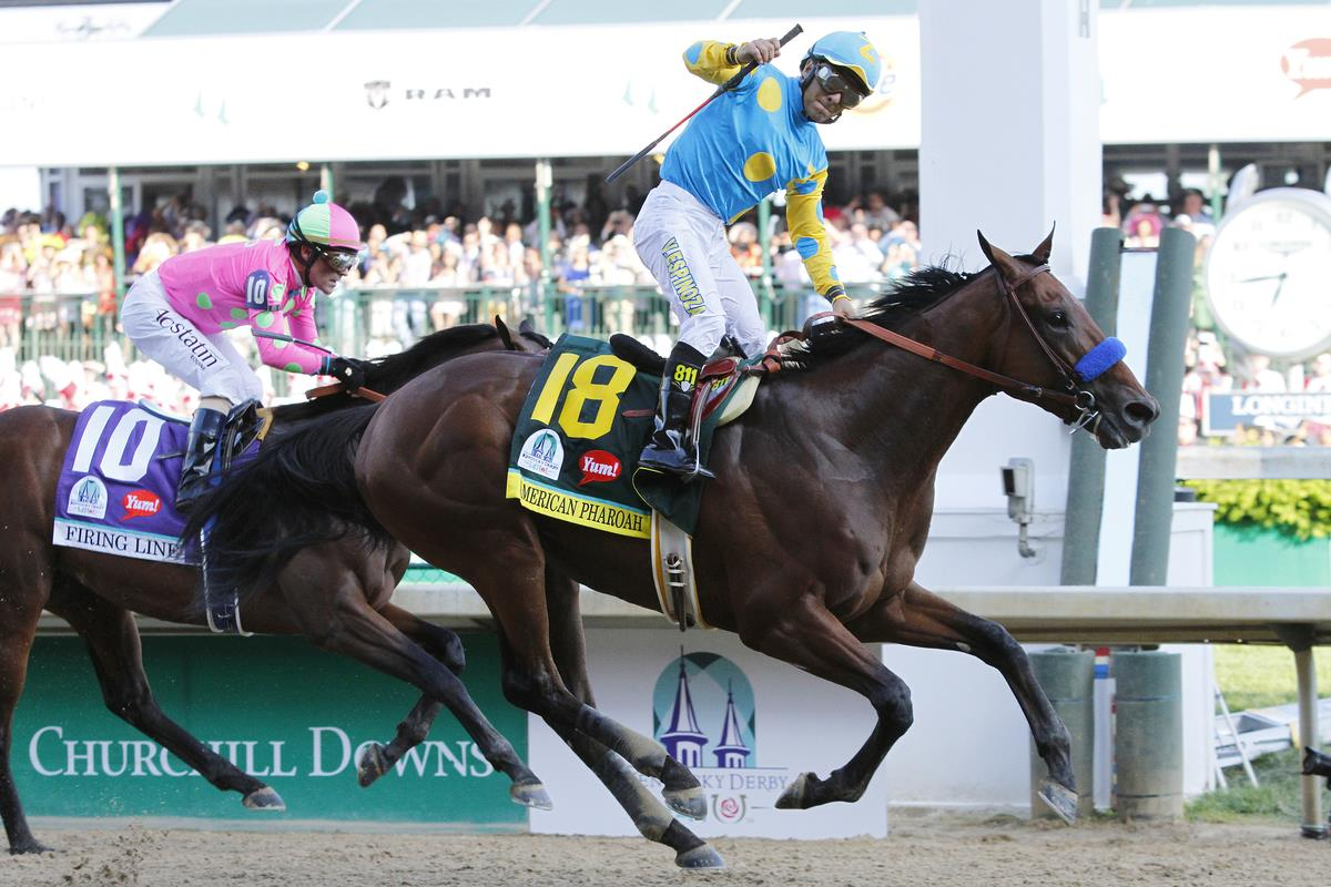 Pioneerof the Nile's American Pharoah is the Champ in Derby 141