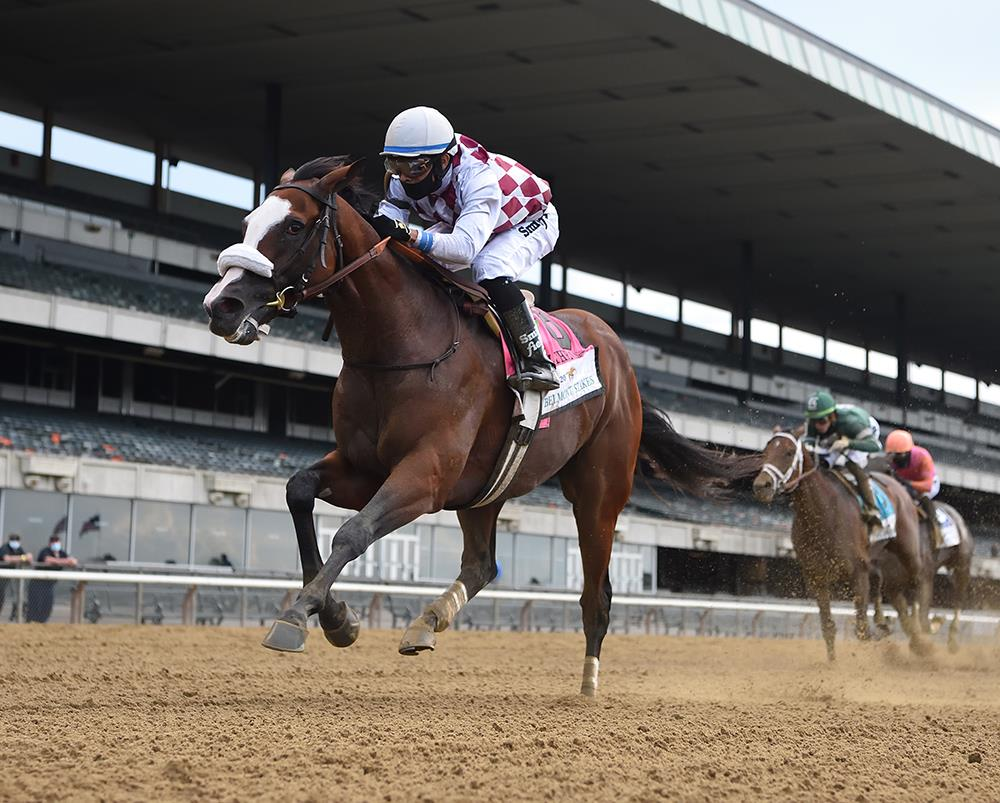 Constitution's Tiz the Law powers to historic Belmont S. (G1) victory title=