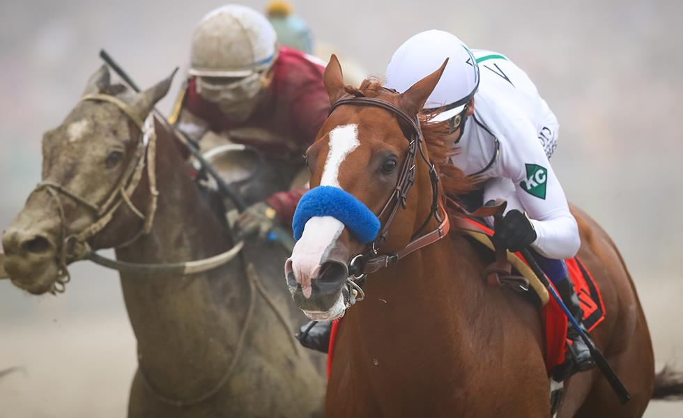Rain, fog can't stop Justify in Preakness S. (G1) title=