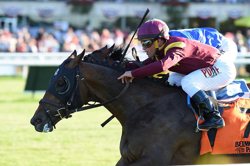 Catholic Boy all heart in Belmont Derby Inv. (G1) title=