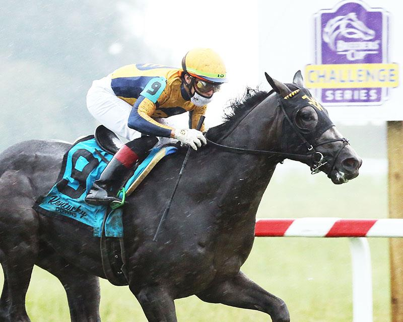 Outadore surges to take $500,000 Kentucky Downs Juvenile Turf Sprint title=