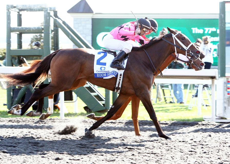 More Than Ready's Room Service battles to dead heat in Grade 1 Ashland