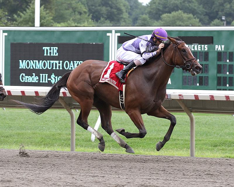Skeptic steps up to take Monmouth Oaks (G3) title=