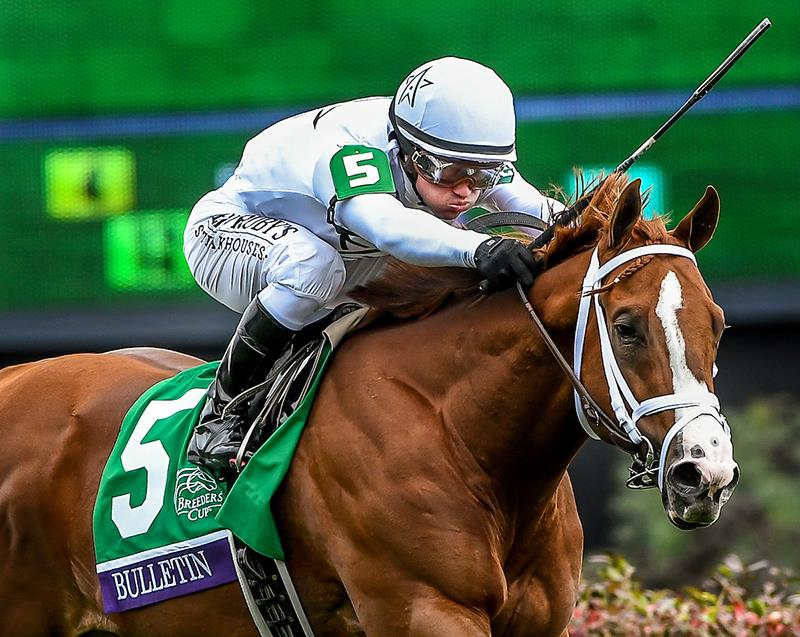 Bulletin is relentless in $1 million Breeders' Cup Juvenile Turf Sprint title=