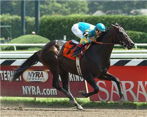 Romping 11 1/2-length debut victory at Saratoga as a 2-year-old